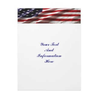 USA Flag Letterhead