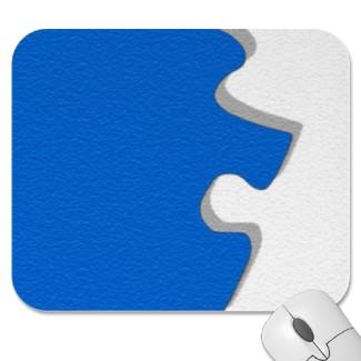 Blue Puzzle Mousepad