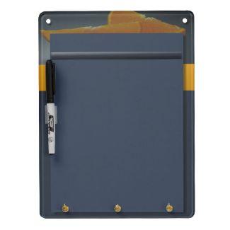 Midnight Orange Dry-Erase Board with Keychain Holder