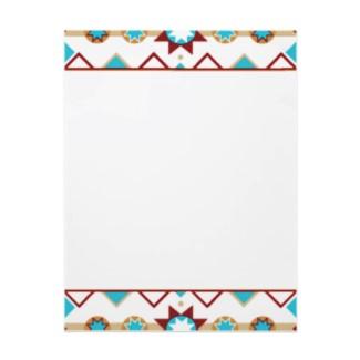 Native American Pattern Letterhead