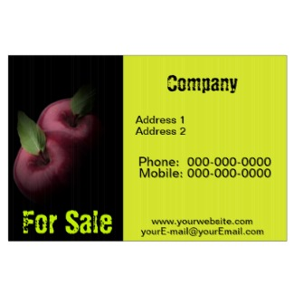 Red Apples Yard Sign