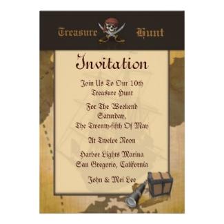 Treasure Hunt Invitation
