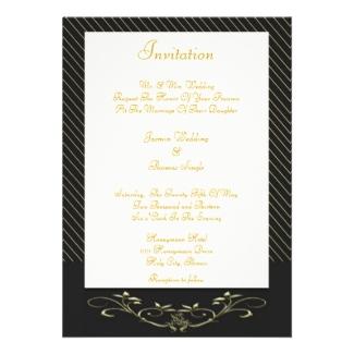 Elegant Gold Stripes Wedding Invitation