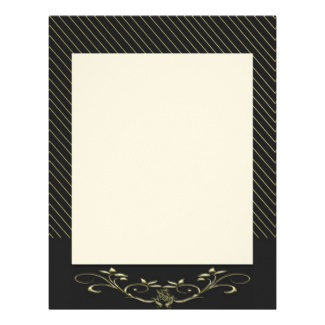 Elegant Gold Stripes Letterhead