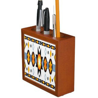 native_american_sun_pattern_desk_organizer
