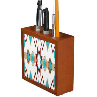 native_american_pattern_desk_organizer